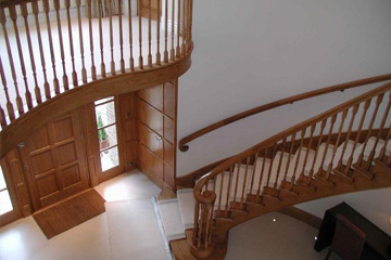 geometrical staircase from Higginson Staircases