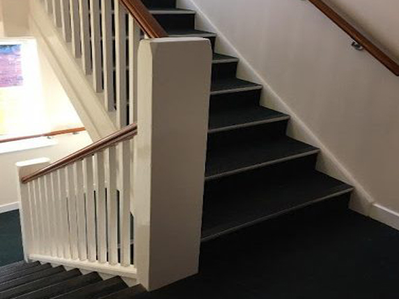 commercial stairs at Higginson Staircases